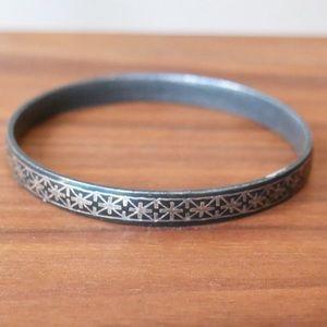 Bidri work black & silver bangle from India